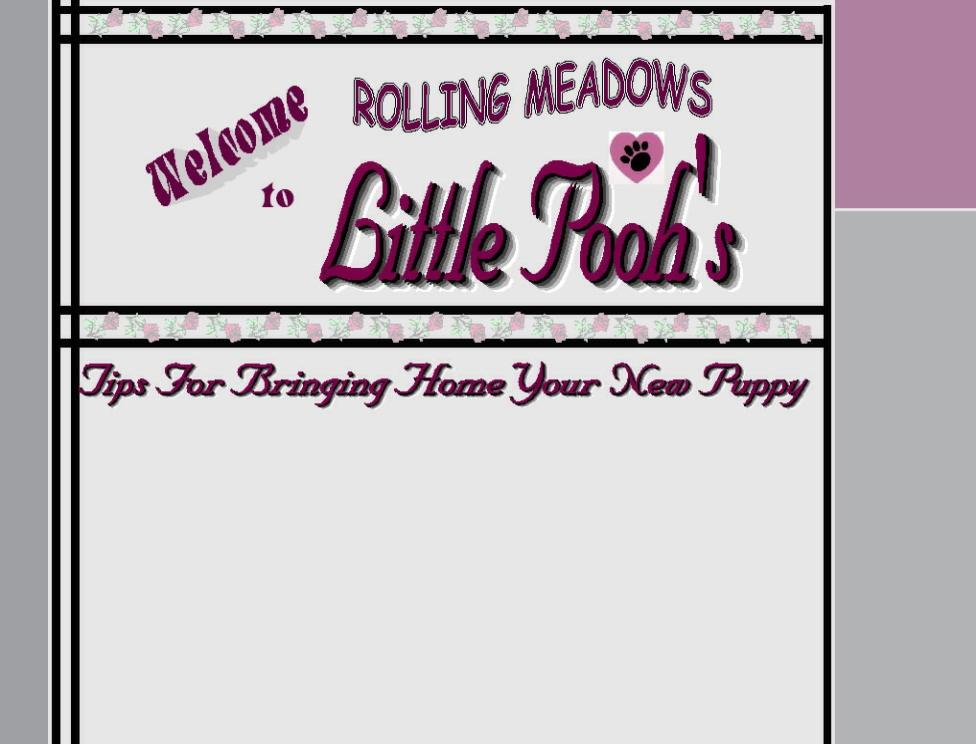 Information Page Home - Rolling Meadows Puppies